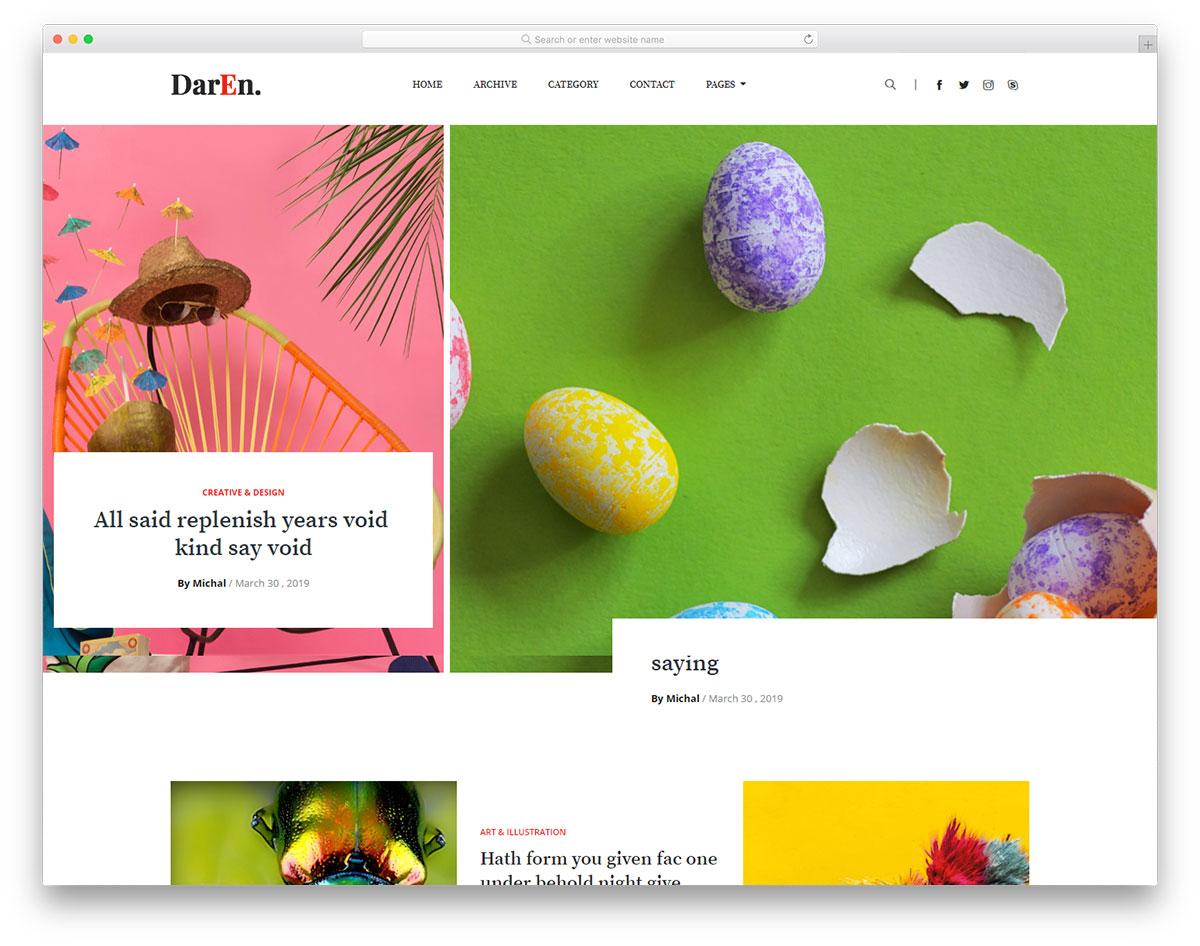 daren free template