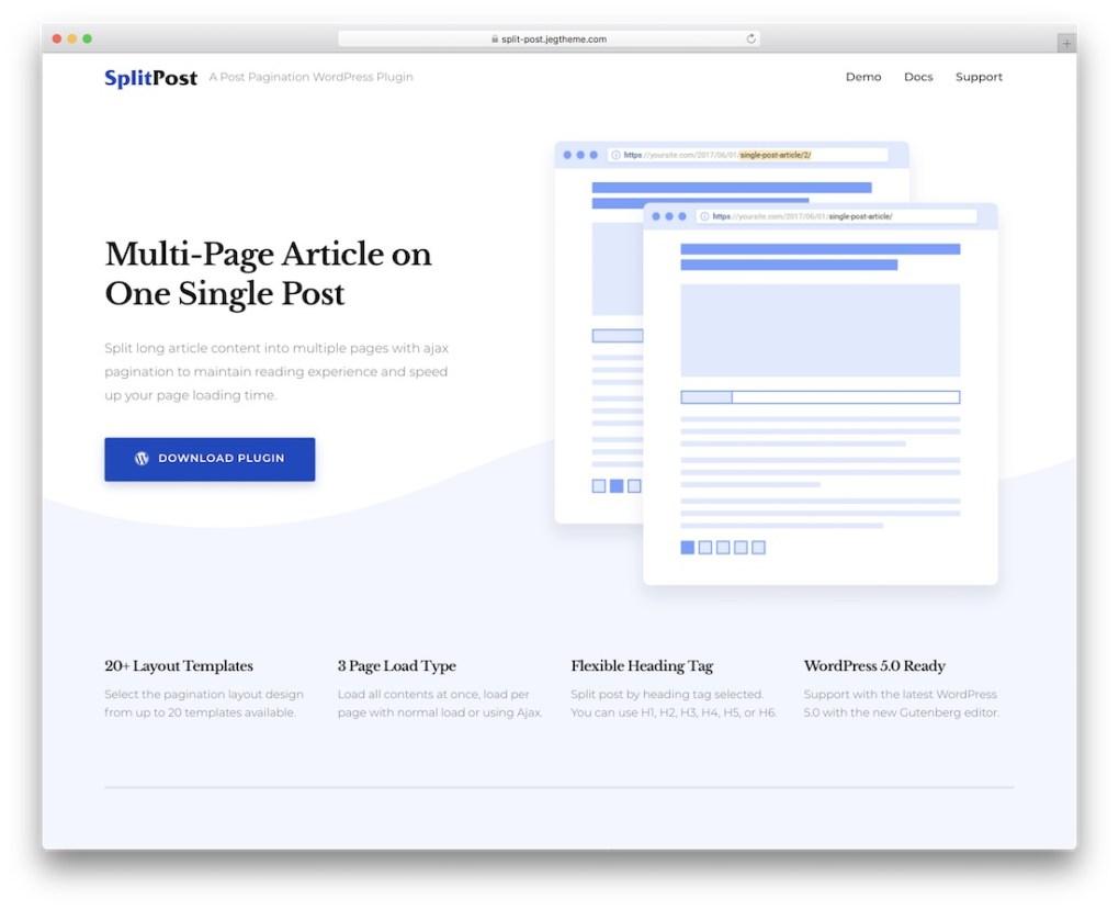 epic chia plugin nội dung chia tách plugin wordpress