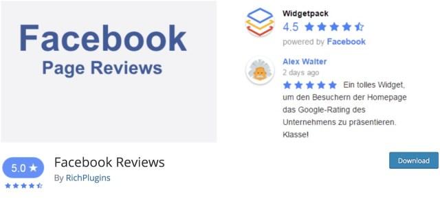 fb reviews widget wordpress plugin