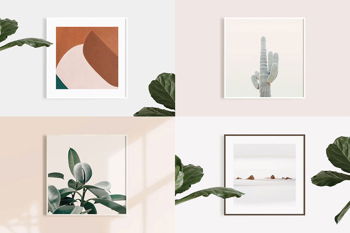 39 exceptional square poster mockups