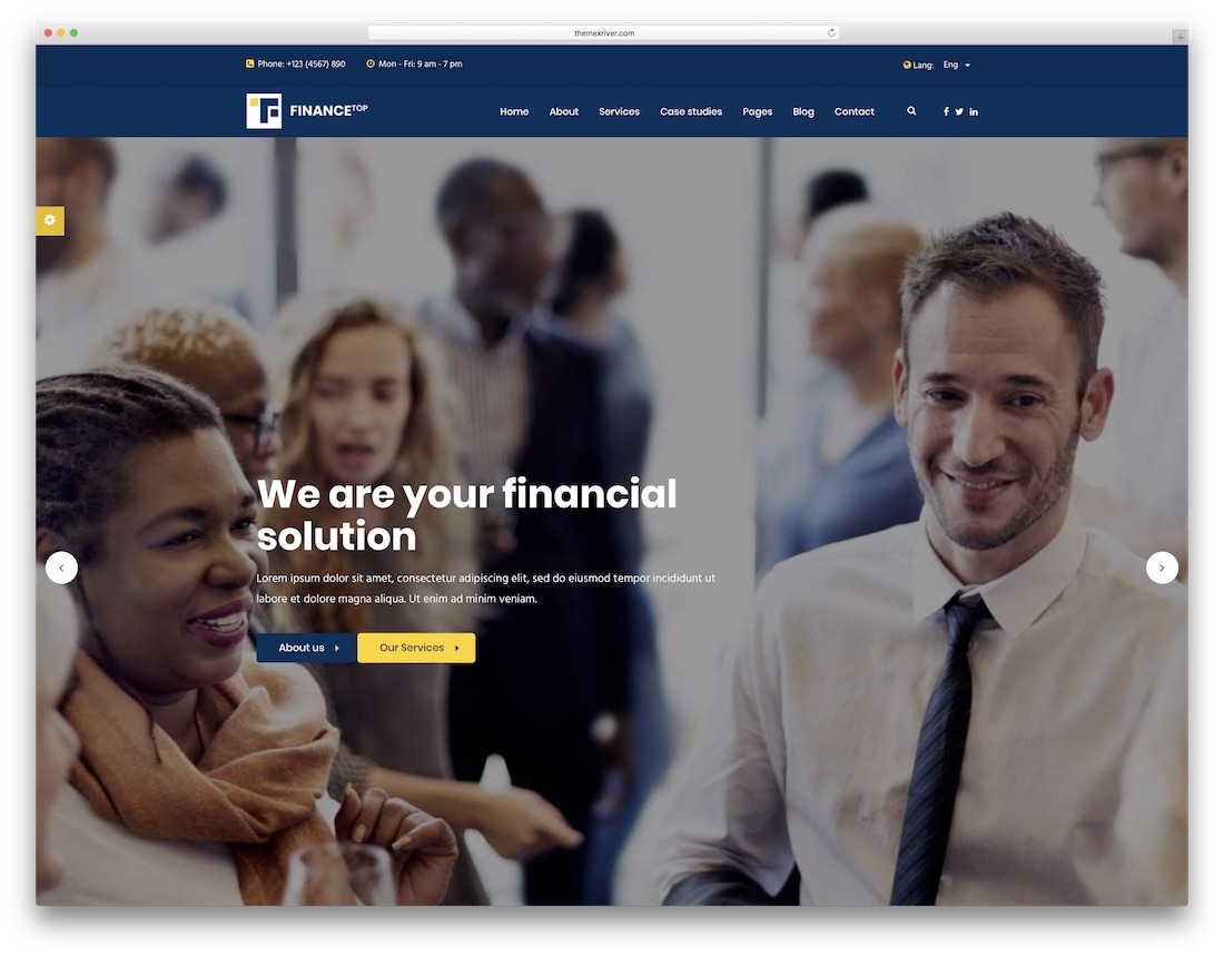 finance top consulting website template
