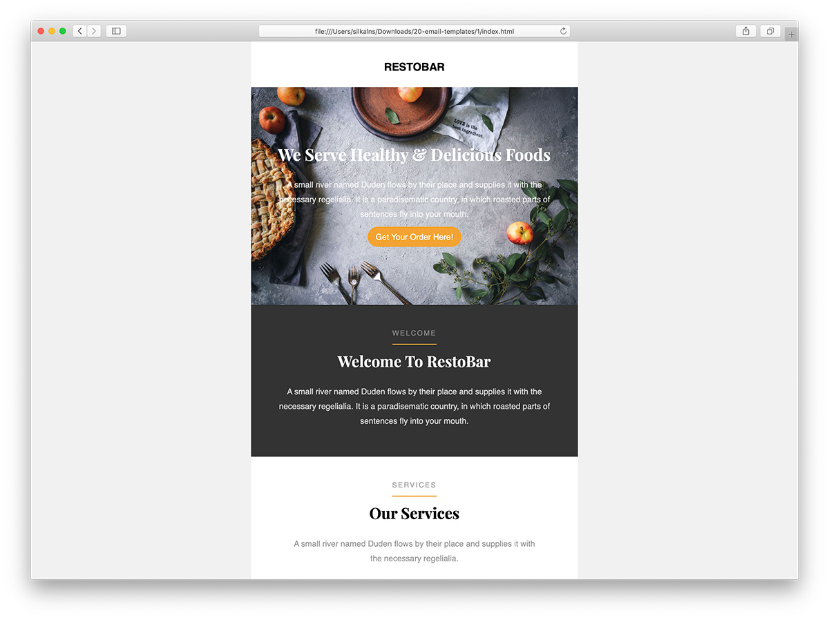 Free email templates for every send. 39 Free Responsive Html Email Templates 2021 Colorlib