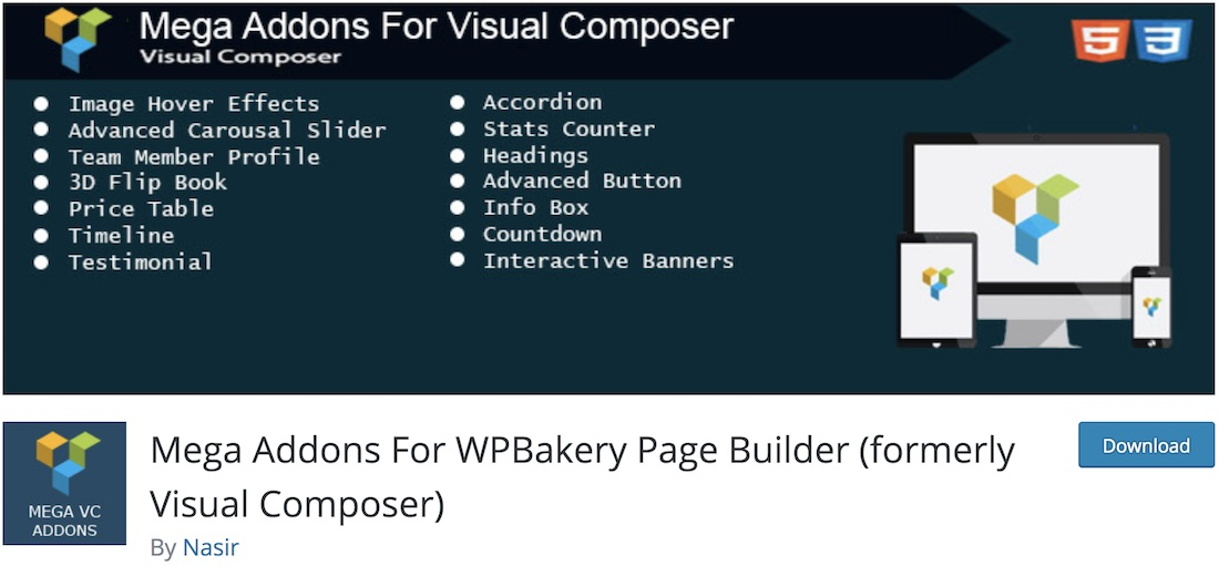 mega addons wpbakery extension