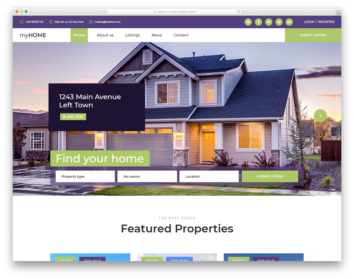 myhome free template