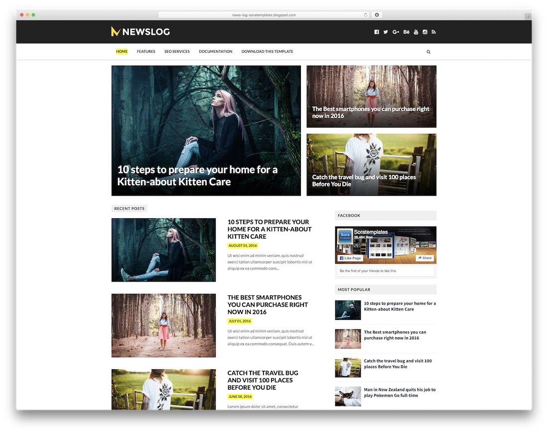 What's more, they are all compatible with modern web browsers and quick to edit. 30 Best Free Responsive Blogger Templates 2021 Colorlib