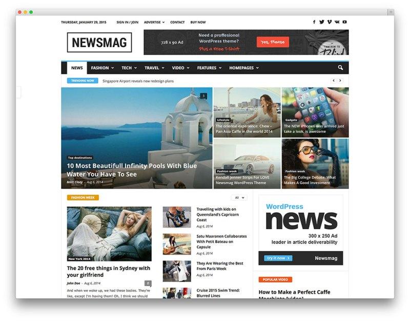 newsmag clean - tema de revista