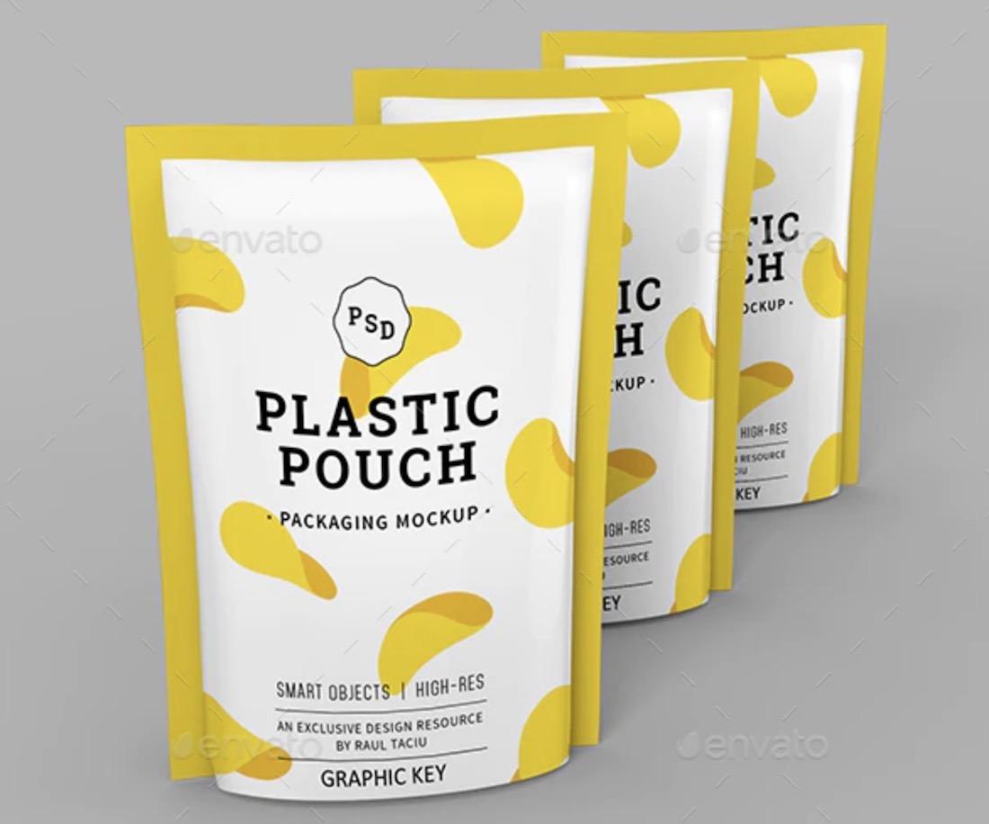 maqueta de bolsa de plástico