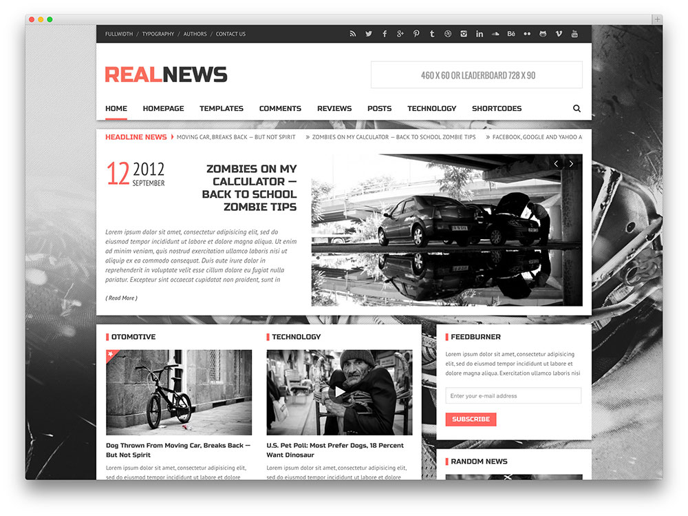 Realnews tema revista simples