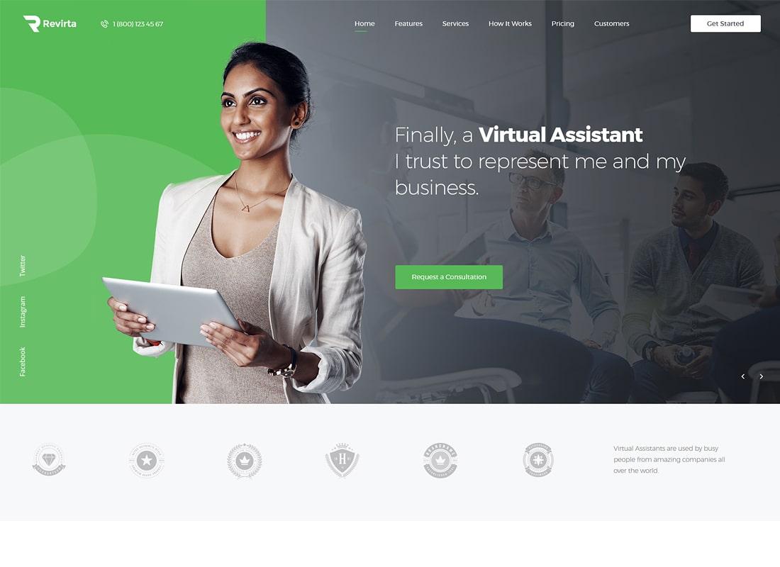 Revirta Asistente virtual de WordPress Theme