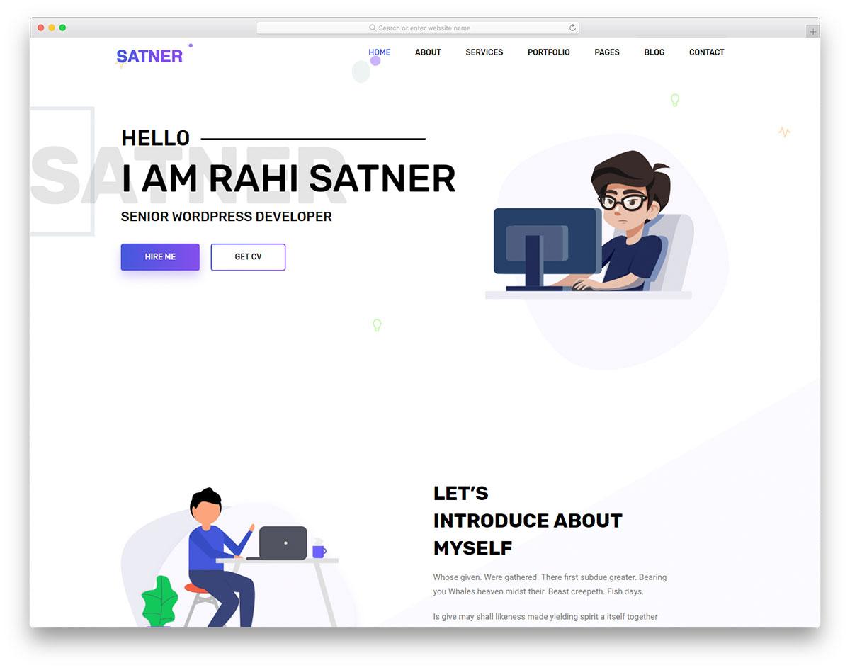 satner free template