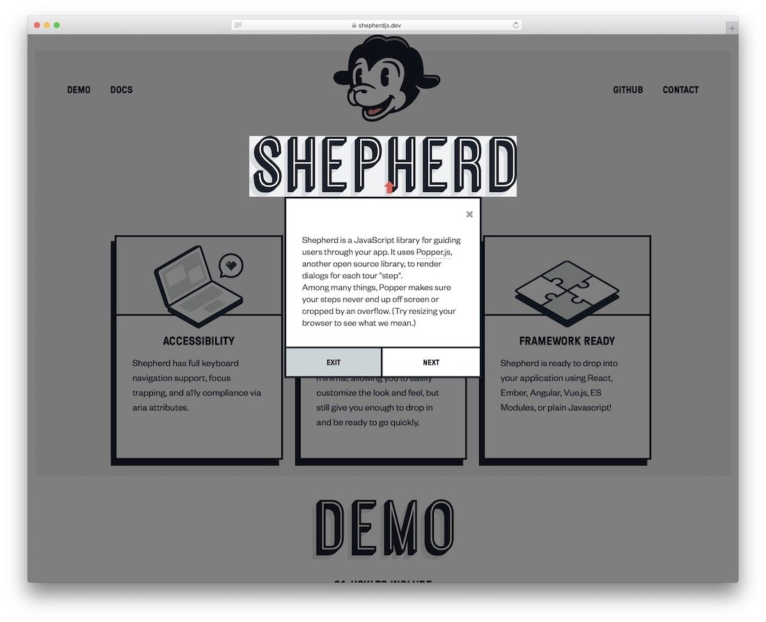 shepherd jquery plugin