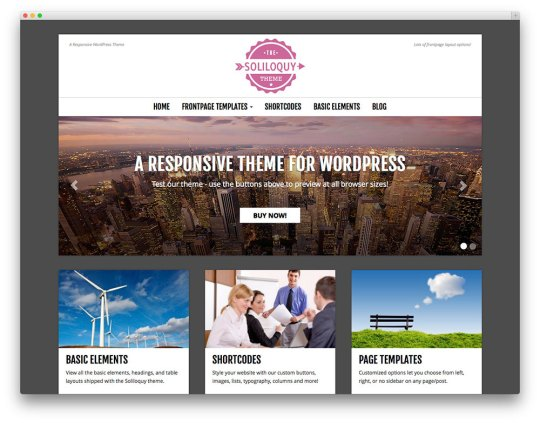 Soliloquy - free wp theme