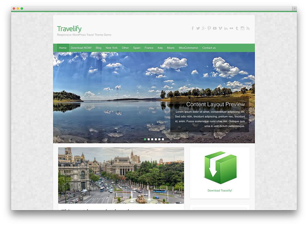 tema de viaje travelify