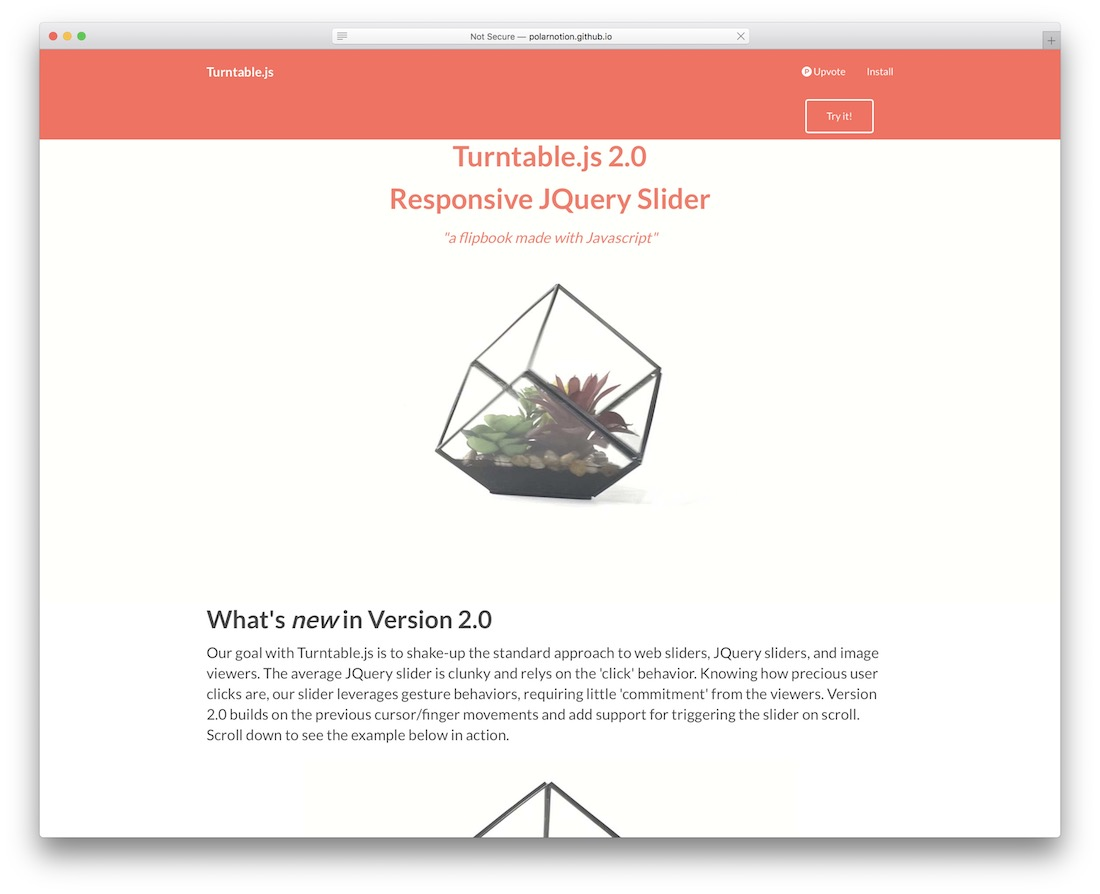 turntable js jquery plugin