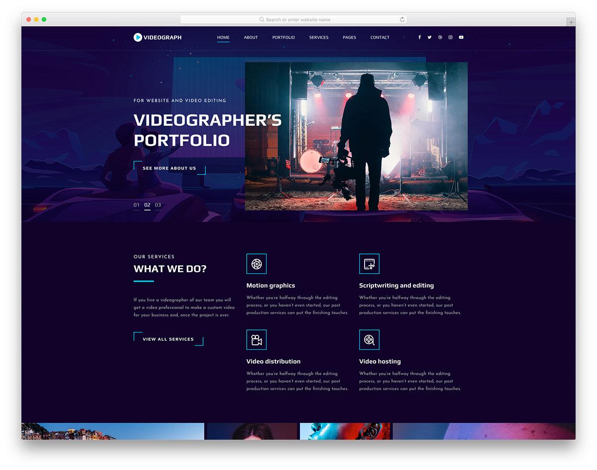 Videograph Free Template