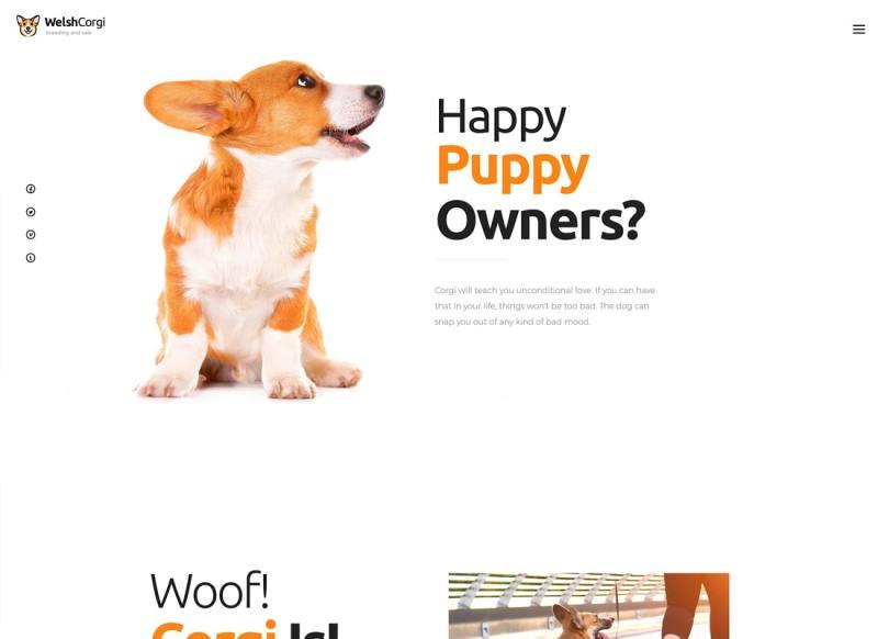 Welsh Corgi   Tema de WordPress para la cría y venta de perros