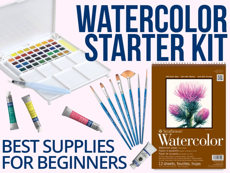 Watercolor Starter Kit: Best Watercolor Art Supplies for Beginners