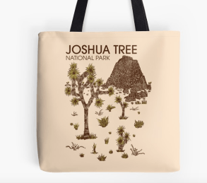 joshua tree national park tote by Hinterlund