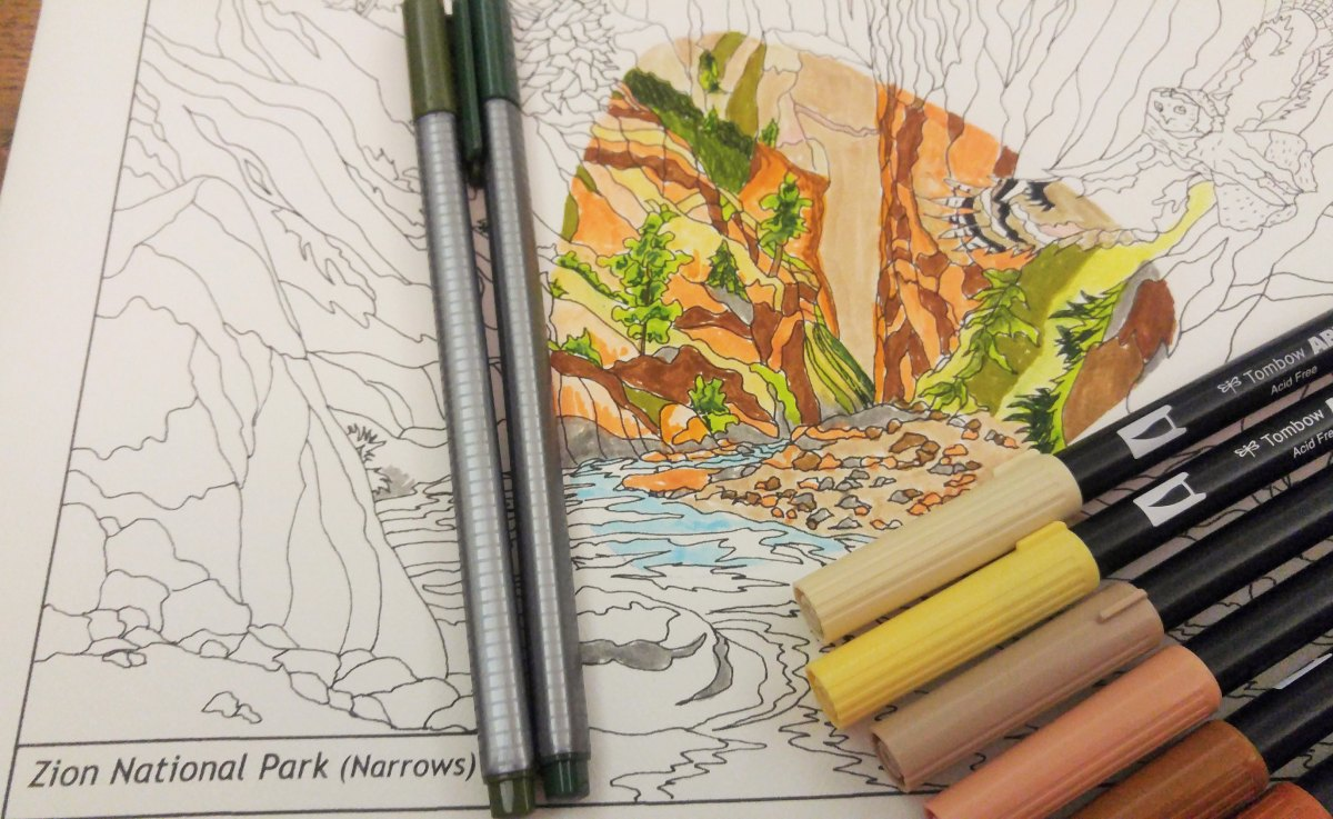 National Park Gifts - coloring book