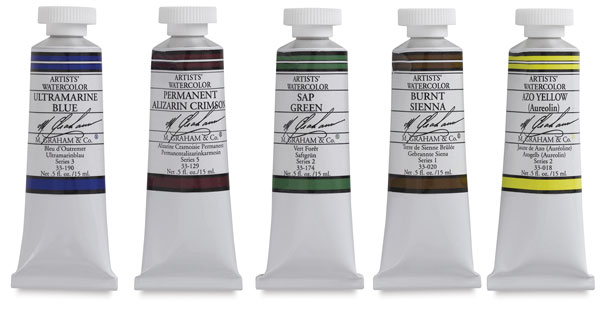 Best Watercolor Paint Set: M Graham watercolor basic set