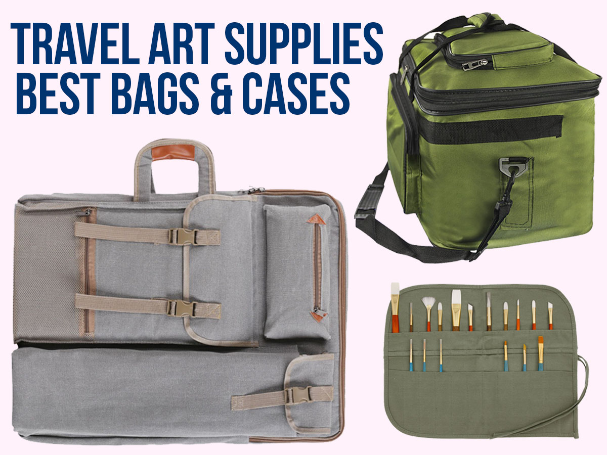 Travel Art Supplies: carrying case for art supplies, artist travel bags & kits