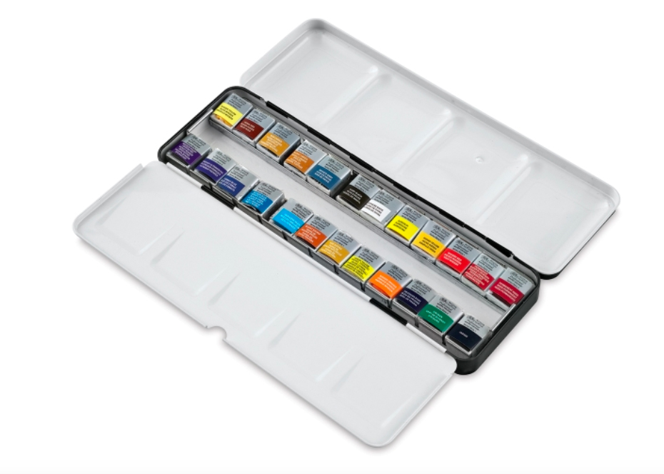 Best Watercolor Paint Brands for Artists: Windsor Newton 24 set