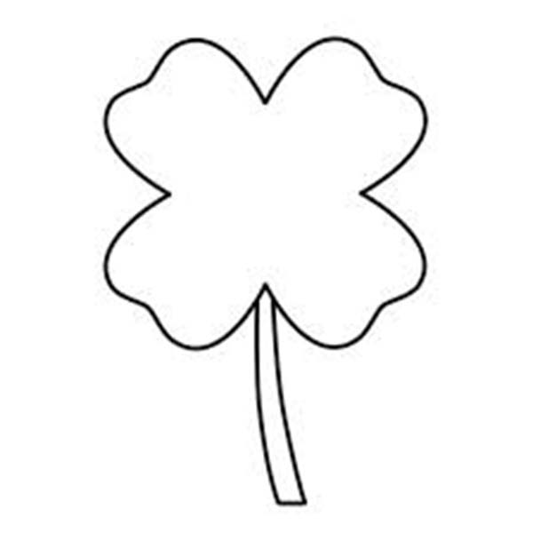 a single four leaf clover coloring page  color luna