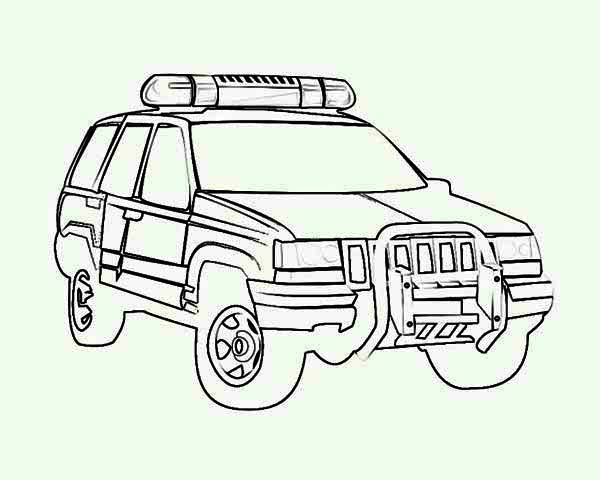 4wd Police Car Coloring Page Color Luna