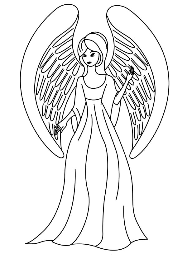 Picture Of Beautiful Angels Coloring Page Color Luna