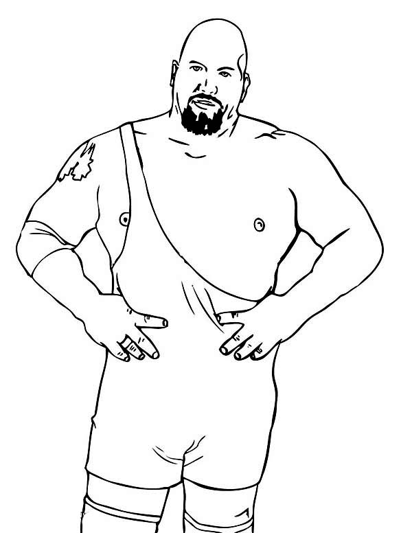 Professional Wrestling Athlete Coloring Page Color Luna