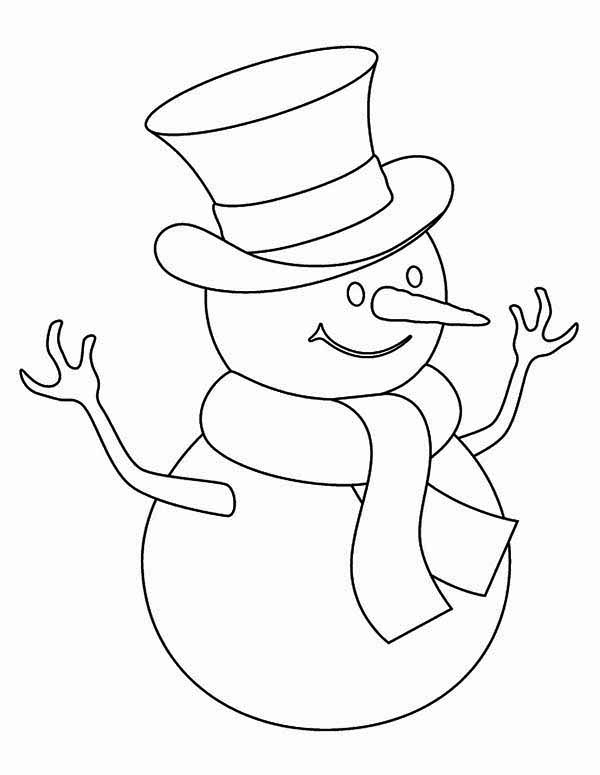Kids Drawing Of Snowman Coloring Page Color Luna