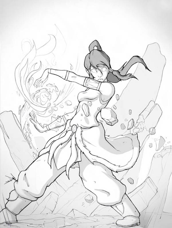 Korra Become Fought In Avatar Form Coloring Page Color Luna