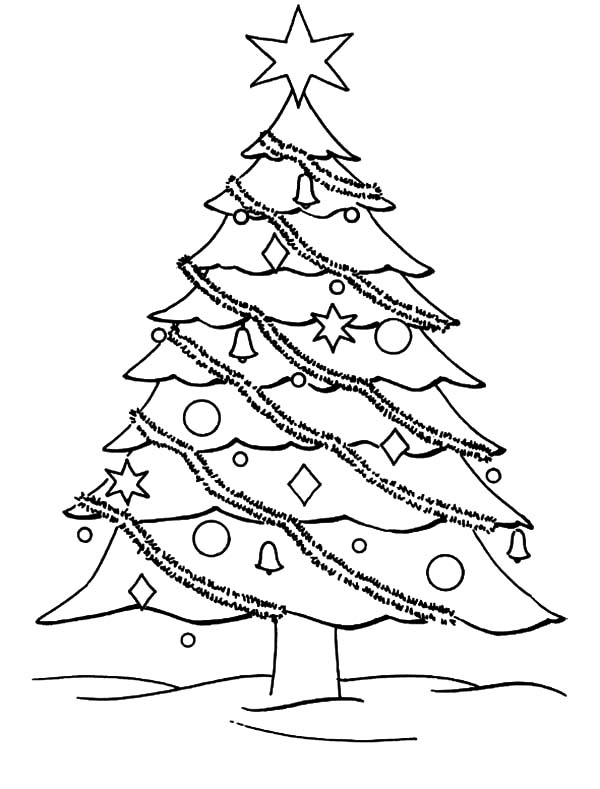 christmas trees coloring pages # 18