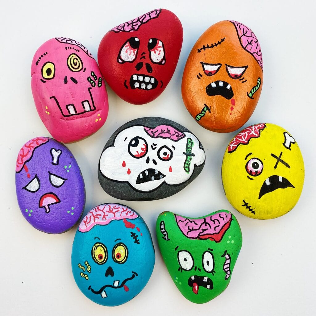 Every little boy wants to have the coolest halloween costume on the block, but thinking of a great idea often falls to mom and dad. 20 Halloween Painted Rocks Color Made Happy