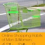Online Shopping Habits (Men vs. Women): Infographic