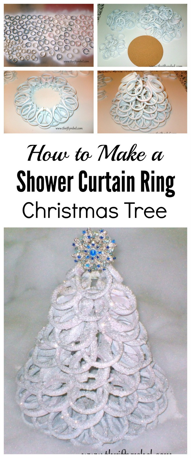 Shower Curtain Ring Christmas Tree Color Me Thrifty