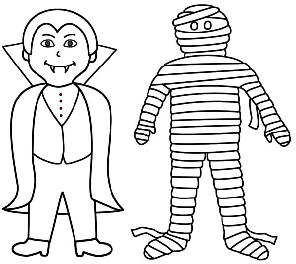 Vampire And Mummy Are Best Friend Coloring Page Download Print Online Coloring Pages For Free Color Nimbus