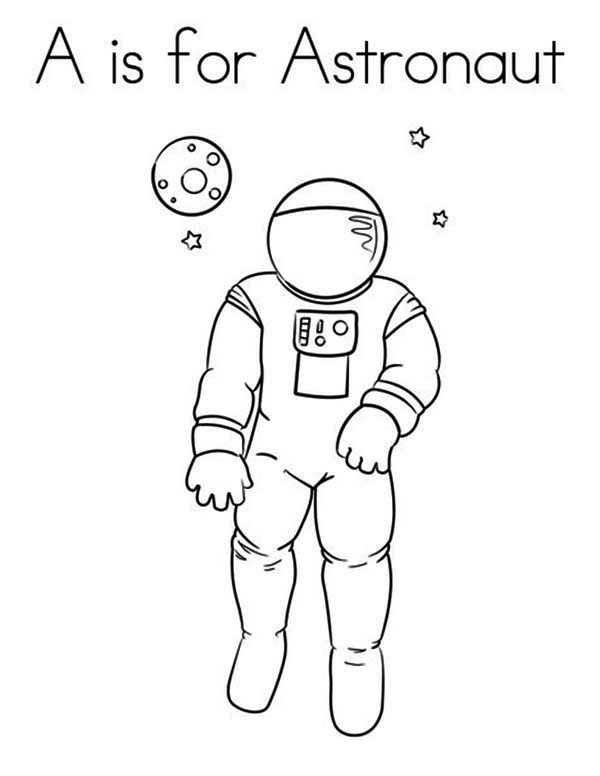 Learn Letter A For Astronaut Coloring Page Download Print Online Coloring Pages For Free Color Nimbus