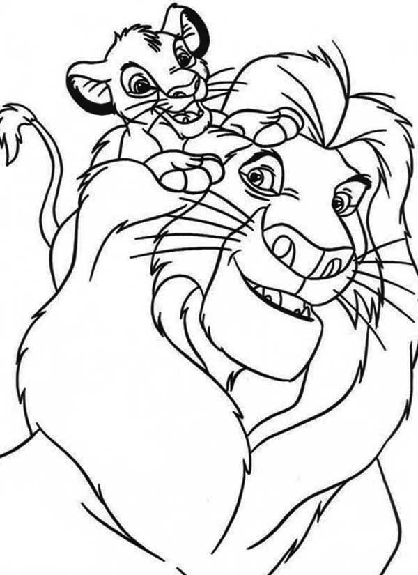 Simba And His Father Mufasa Coloring Page Download