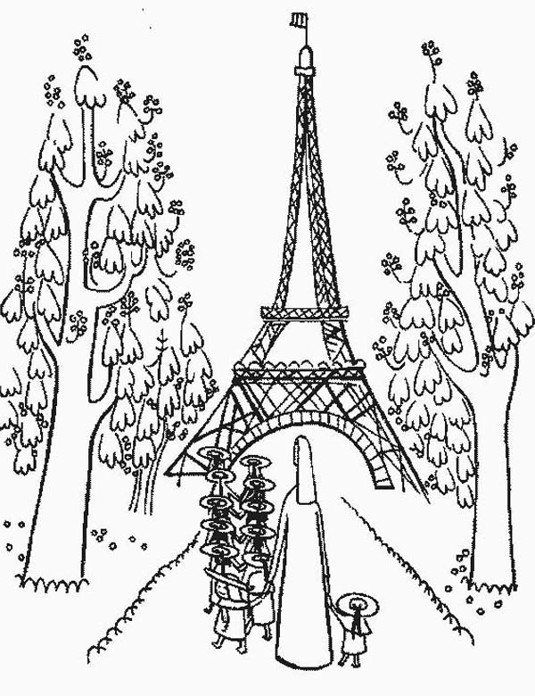Kindergarden Holiday At Eiffel Tower Coloring Page Download Print Online Coloring Pages For Free Color Nimbus