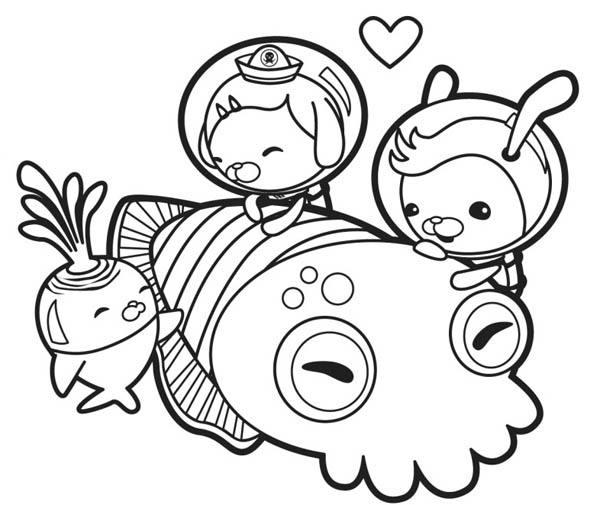 the octonauts meet giant squid coloring page  download
