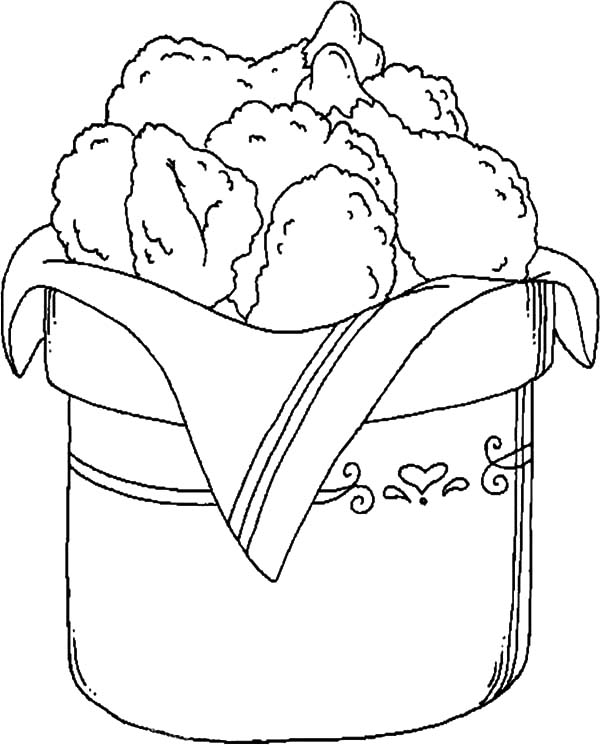 Bucket Full Of Drumstick Fried Chicken Coloring Pages Download Print Online Coloring Pages For Free Color Nimbus