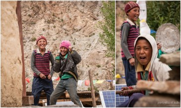 Playful kids at Charang village, Kinnaur, Himachal