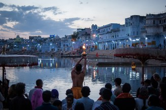 Evening Puja and Aarti on the ghats