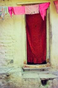 A village house door, Khajuraho