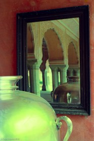Reflections on a mirror, Rajasthan