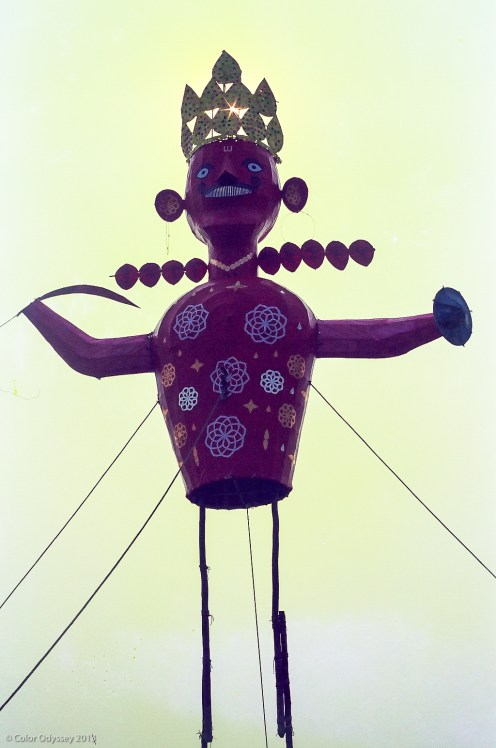 A puppet of Raavan to be burnt on the festival of Dusshera