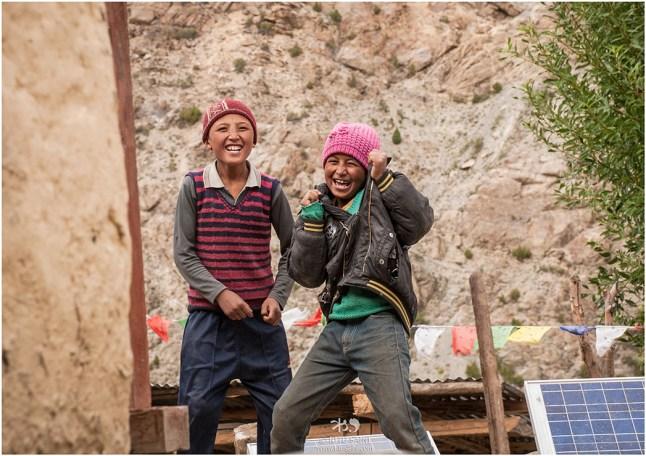 Delightful kids at Charang