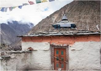 The temple at Charang village