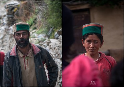 Locals wearing the Kinnauri cap
